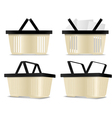 Empty and full Shopping cart icons vector image