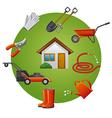 garden tools icon set vector image