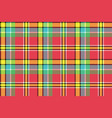 madras check plaid pixeled seamless texture vector image