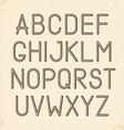 Retro alphabet Type font vintage typography vector image