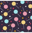 Seamless pattern with colorful lollipops vector image