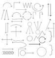 Set of arrows vector image