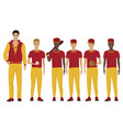 the young baseball players vector image
