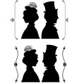 Vintage cameo silhouette vector image