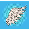 hand drawn pop art of angel wing Retro style Hand vector image