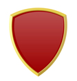 Red shield on white background vector image vector image