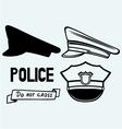 Police cap vector image