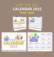 LOVE THE DOG CALENDAR 2015 COVER vector image