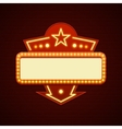 Retro Showtime Sign Design Cinema Signage Light vector image