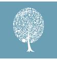 Tree a bath vector image vector image
