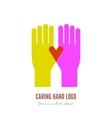Caring hand logo vector image
