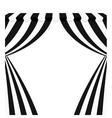 circus curtain raises vector image