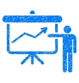 Project Presentation Grainy Texture Icon vector image
