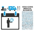 Time Manager Calendar Day Icon With 1000 Medical vector image