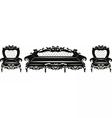 Vintage Baroque Sofa and armchair set vector image