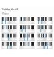 Piano perfect fourth interval infographics vector image