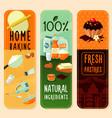 baking ingredients vertical banners vector image
