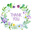 Watercolor thank you card vector image vector image