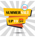 summer sale ribbon and sticker banner vintage vector image vector image