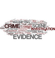 evidence word cloud concept vector image