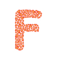 letter f made of valentines vector image