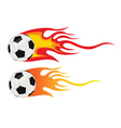Soccer ball flying through air vector image vector image