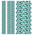 set seampless pattern lace vector image vector image