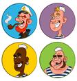 avatars sailors vector image