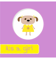 Baby shower card with dog Its a girl vector image