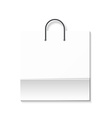Bag isolated on a white background White paper vector image