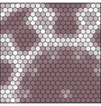brown gray honeycomb - abstract hexagon grid vector image