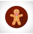 Christmas Gingerbread Cookie icon vector image