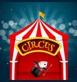 Circus tent poster Circus retro sign invitation vector image