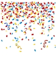 Colorful confetti on the white background vector image