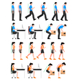 Colorful Postures Set vector image