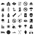 crutch icons set simple style vector image
