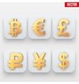 Money icon Symbol of Gold Dollar vector image