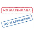no marihuana textile stamps vector image