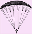 Paragliding parachute extreme sport vector image