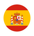 round shape flag of spain vector image