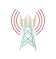 Tower with telecommunications equipment icon vector image