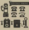 Vintage phone vector image