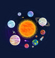 astronomy space astrology concept solar system vector image