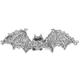 Black bat doodle vector image vector image