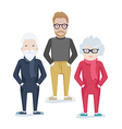 family with elderly parents and son vector image vector image
