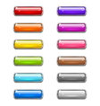 Modern shiny buttons vector image