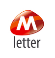 logo abstract form the letter M vector image
