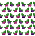Blueberry Flat Seamless Pattern Background Icon vector image