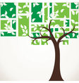 abstract tree stock vector image