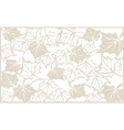 Autumn pattern with maple leaves Template for vector image